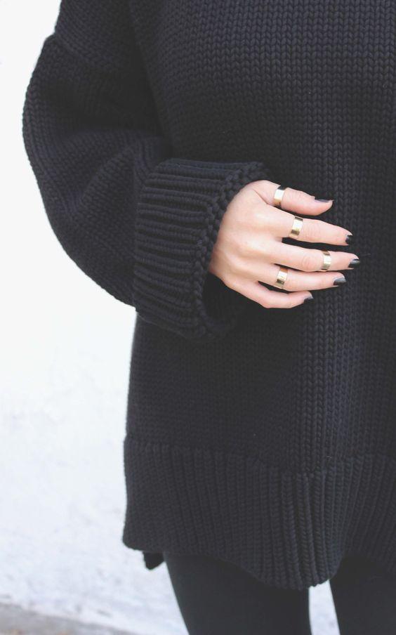 krata czarny sweter